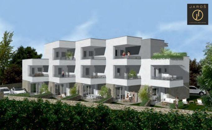 Prodej novostavby domu 5+1 se zahrádkou a parkováním, Novalja Chorvatsko