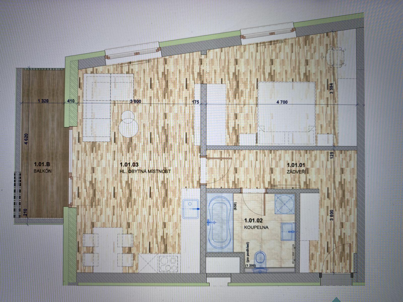 Nabízíme k prodeji byt 2+KK v novostavbě bytového domu v obci Domašov