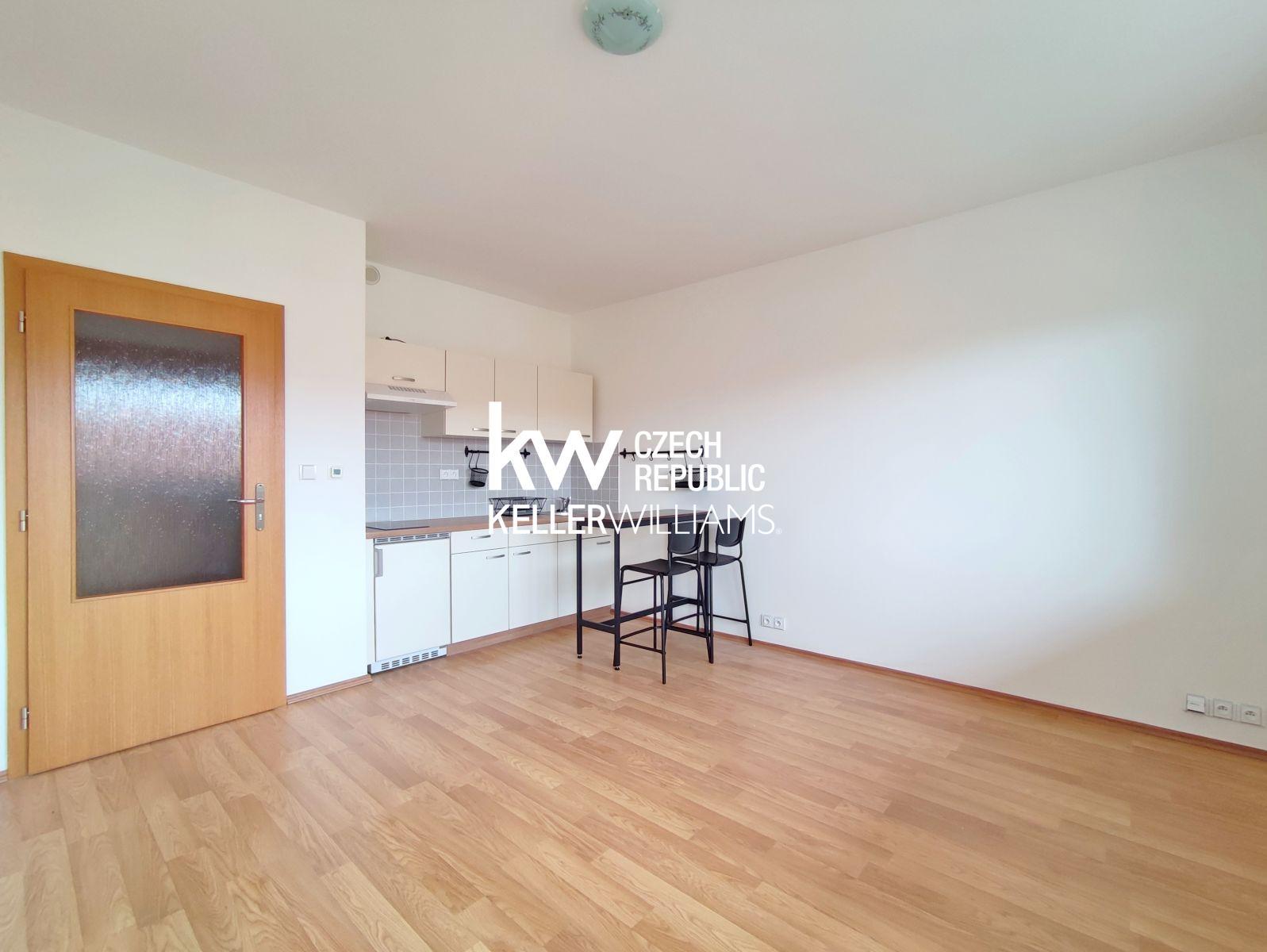 Pronájem nového bytu 1+kk, balkon, sklep, bezproblémové parkování, Brno - Řečkovice