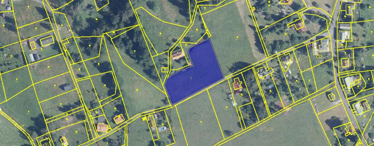 Prodej pozemek Falknov 4238 m2, Falknov, okres Děčín