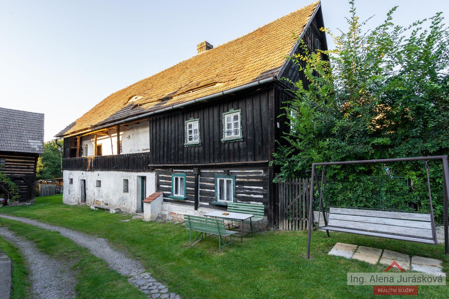 Prodej rodinného domu/chalupy 380 m,  pozemek 781 m2,  Blíževedly, Skalka