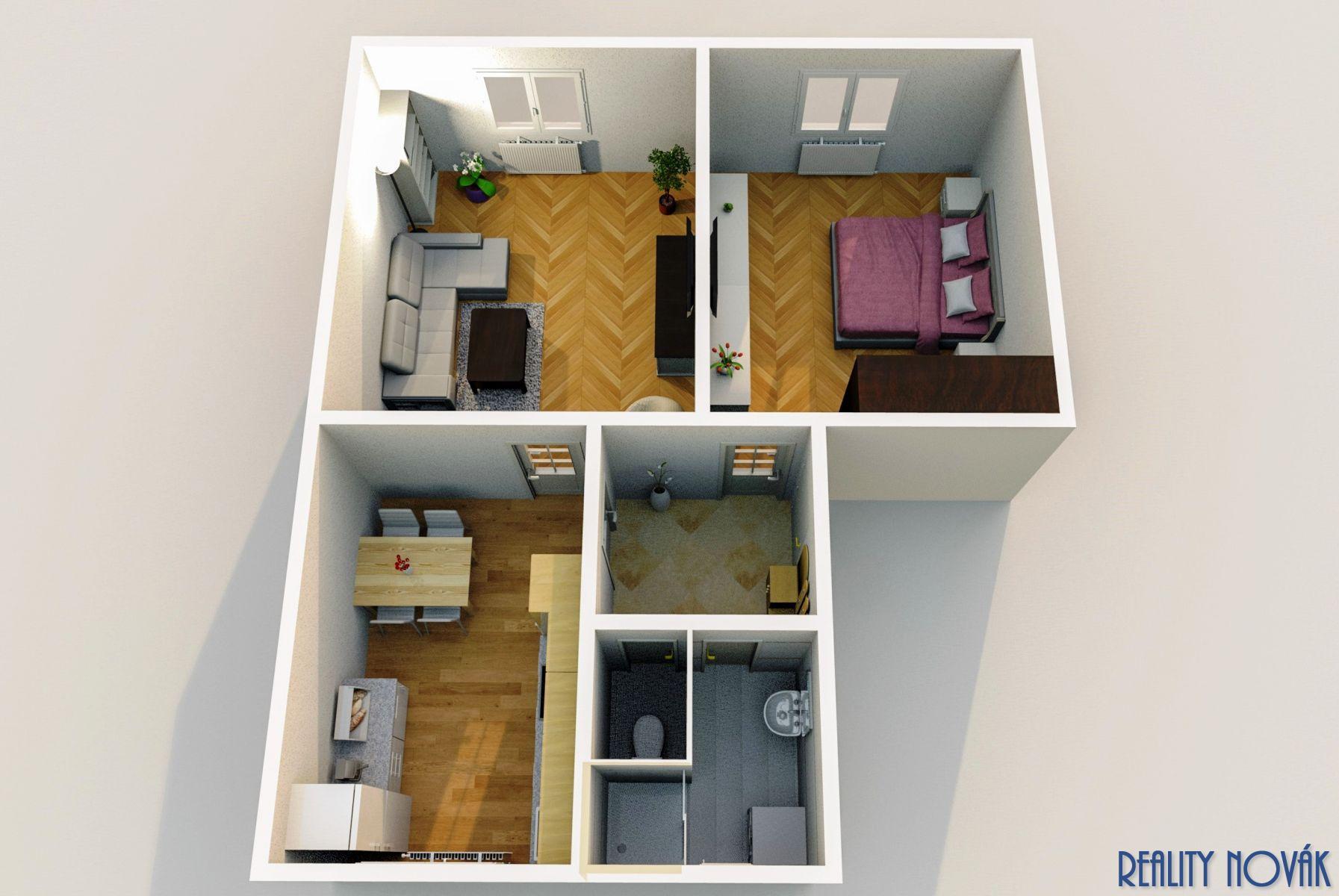 prodej bytu 2+1 s garáží a zahradou, Praha 9 - Prosek