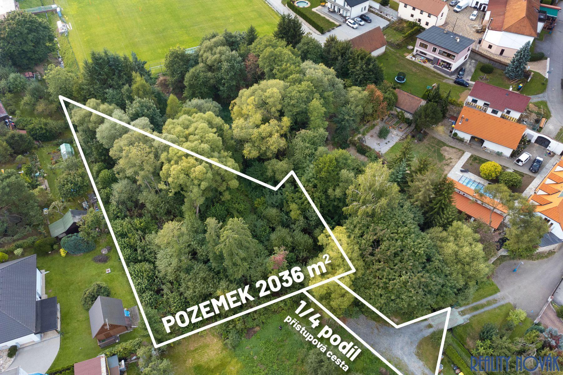 Exkluzivní pozemek 2.036 m2, Mirošovice, okr. Praha-východ