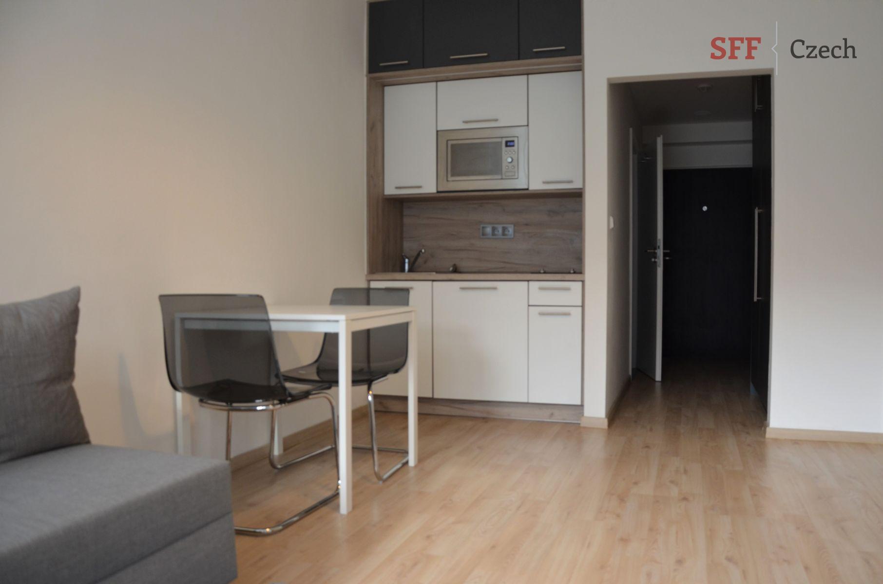 Moderní nový byt 1+kk v rezidenci vbloku Praha 5 Mavazinky nedaleko Nový Smíchov Aněl