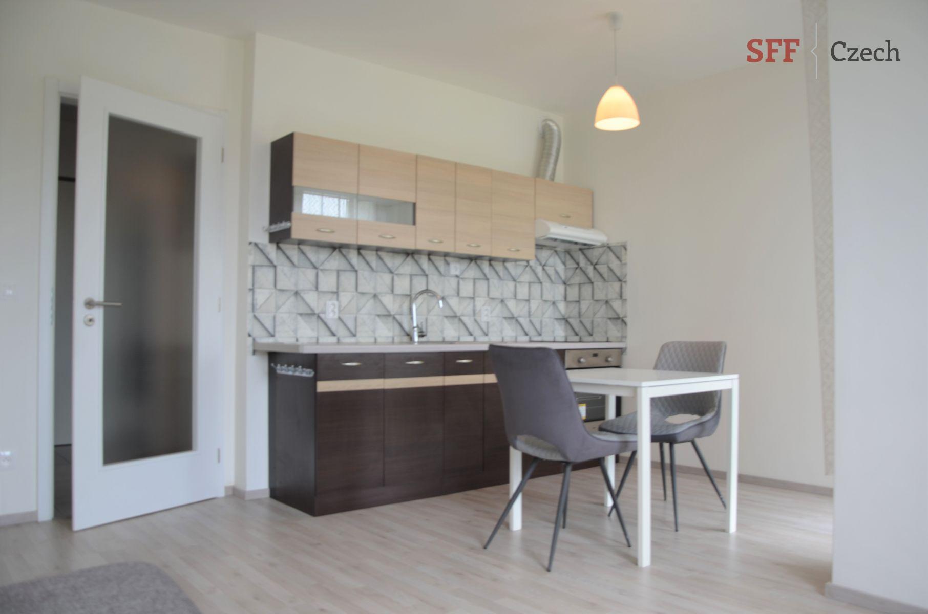 Hezký moderní zařízený byt 1+kk s balkónem v novostavbě Praha 9 Vysočany