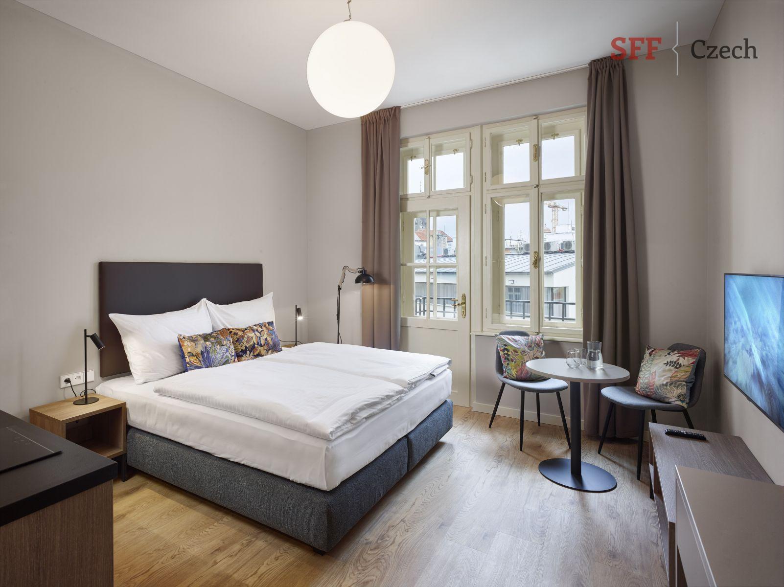 Krásné nové moderní plně vybavené studio k pronájmu Praha 1 Opletalova