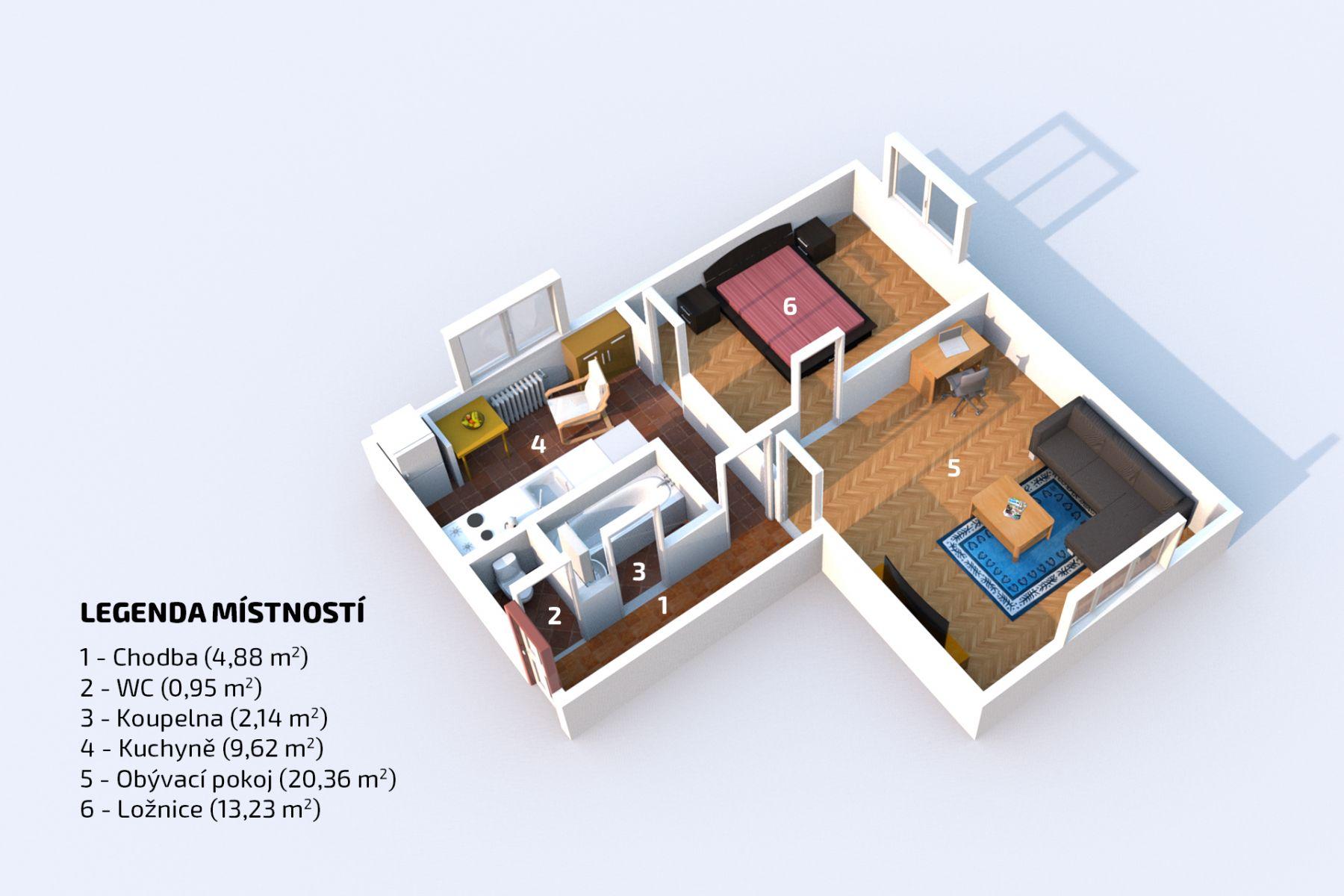 Prodej bytu přímo na metru A - Bořislavka, 2+1, 51 m2, OV, Praha 6 - Vokovice