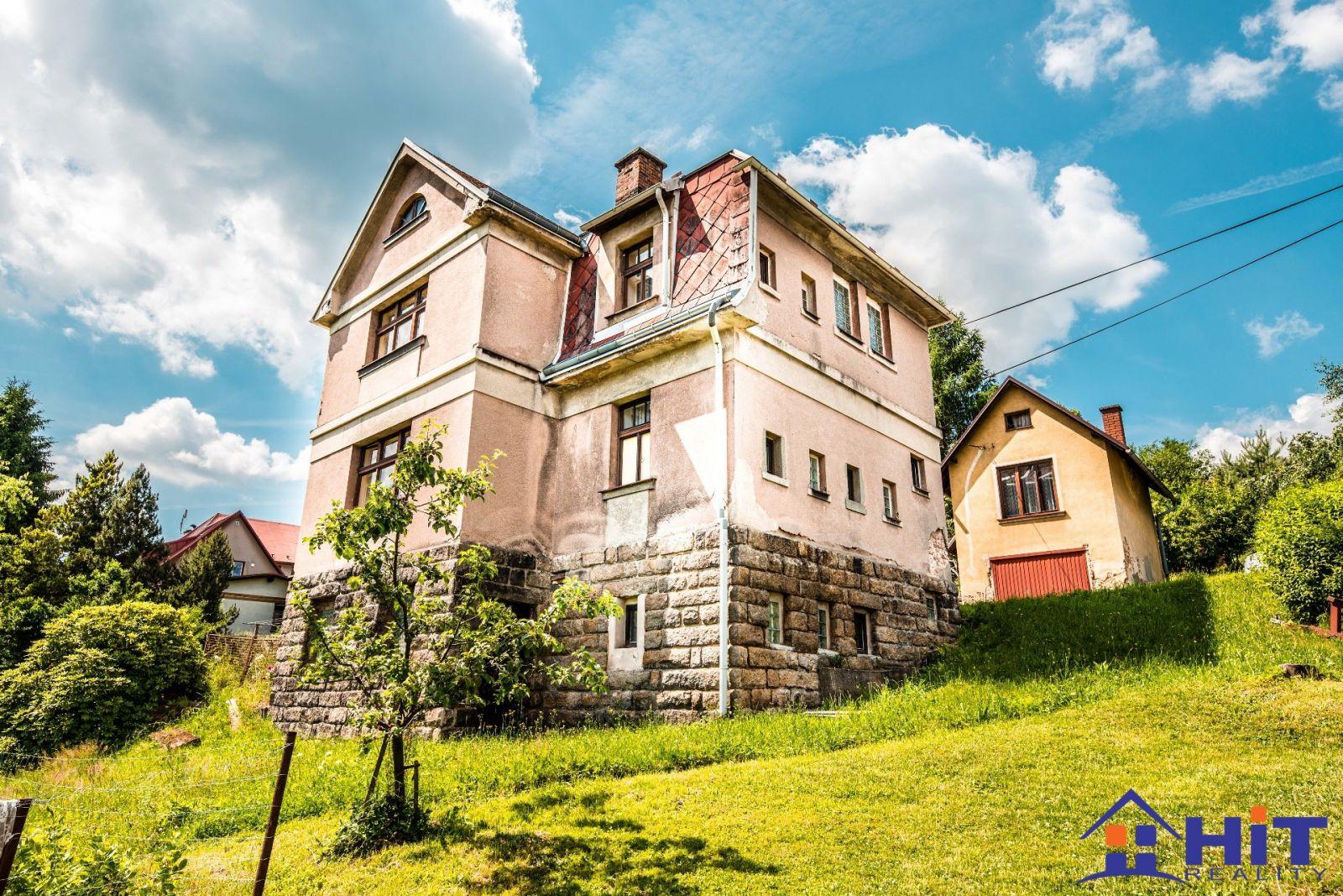 Vila + malý domek - Huntířov u Malé Skály