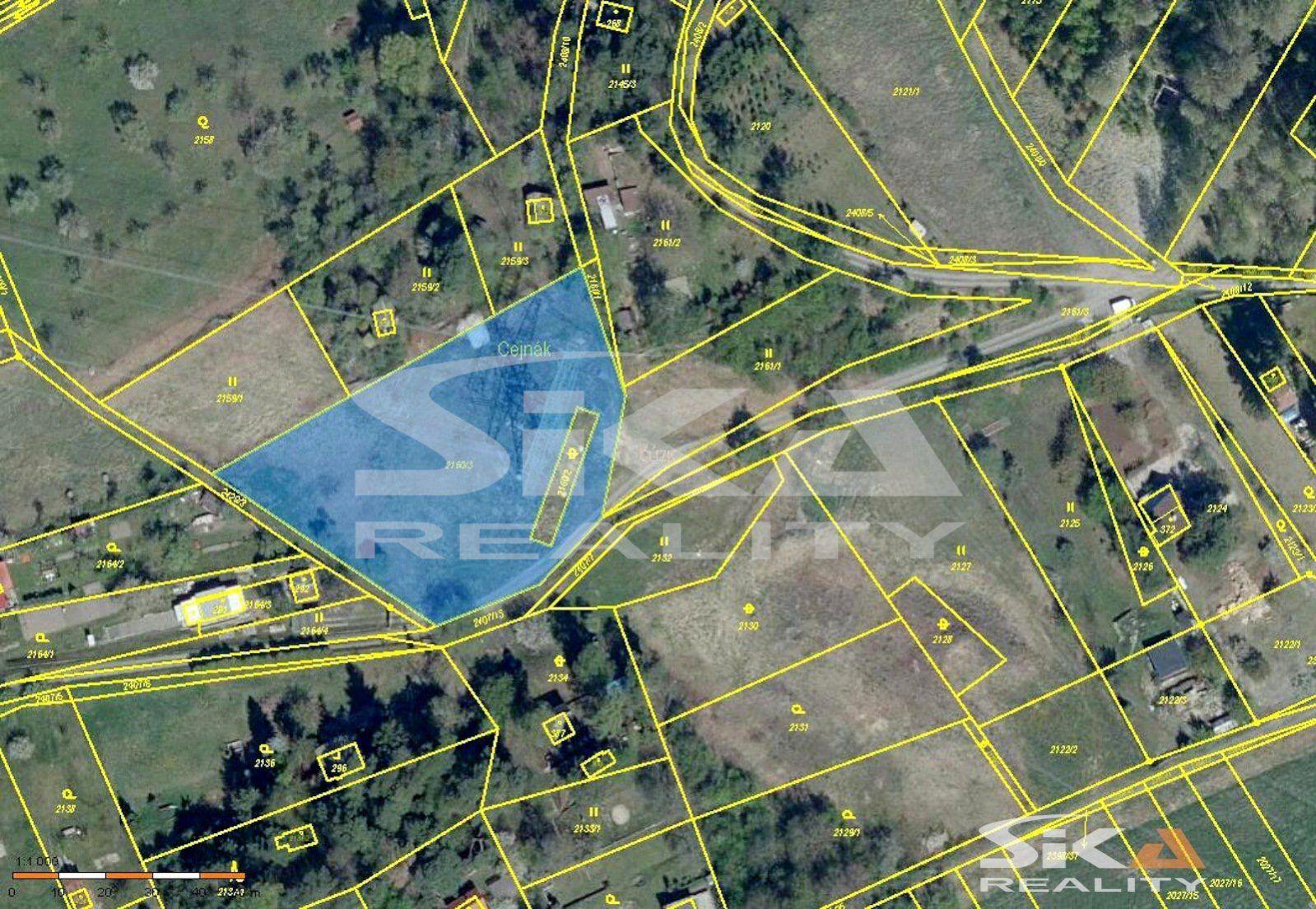 Prodej pozemku v chatové osadě, 3.642 m2